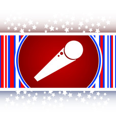 microphone icon web button isolated on white background vector