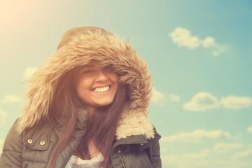 Smiley teenager.