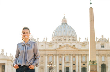 Portrait of woman in Vatican City in Rome