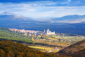 Autumn landscape with  El Escorial