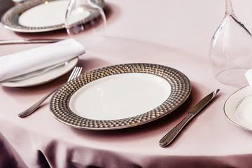 set in restaurant
