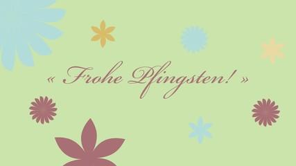 Frohe Pfingsten Schriftzug - Kalligrafie