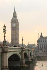 Coucher de soleil sur Bigben, Londres