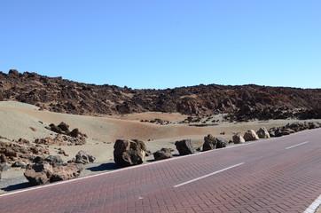 необычный пейзаж вулканической породы