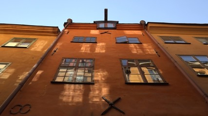 old windows from old town in Stockholm