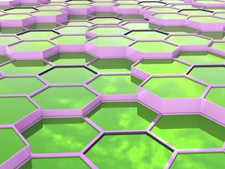 abstract background of 3d hexagons blocks