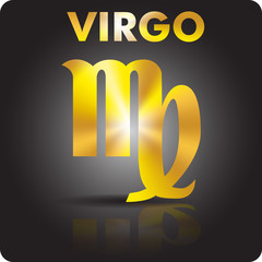 Astrology. Virgo. Astrological sign from gold.