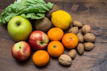 frutta, verdura e noci