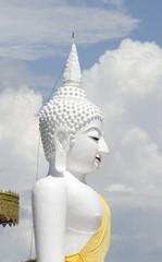 Buddha white statue in thailand