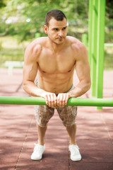 Push-Ups In The Park