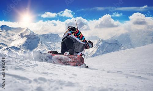 mata magnetyczna Extreme snowboard człowiek