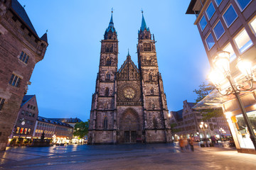 St. Lawrence church night view, Nuremberg