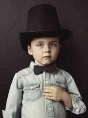 Portrait of a little serious gentleman