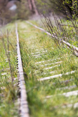 old railway grassed