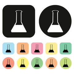 Chemical test tubes icon icon. Science icon. Lab icon