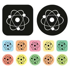 Science icon. Atom icon
