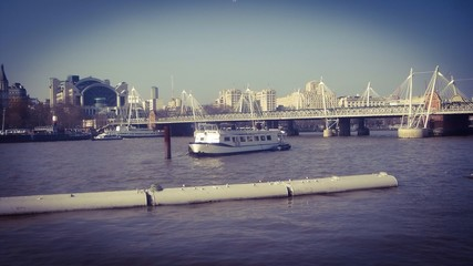 ship in thames river