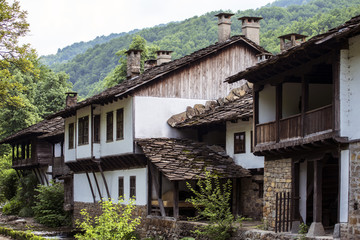 Traditional houses in east Europe
