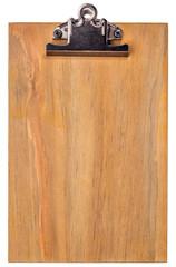 wooden blank clipboard