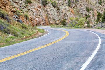 windy, mountain Road through canyon