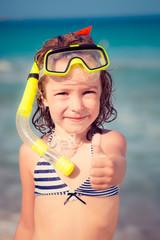 Happy child on the beach