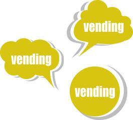 vending word on modern banner design template