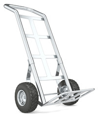 Hand Truck.Front perspective view of an empty Truck.