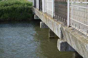 The bridge via the channel