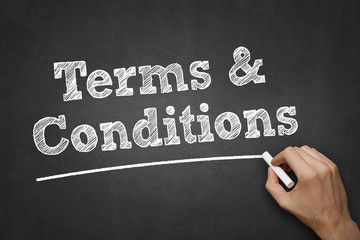terms and conditions - chalk on blackboard