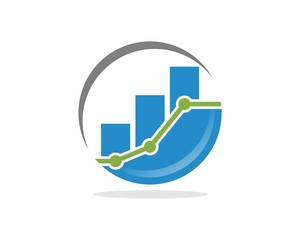 circle stock chart logo template