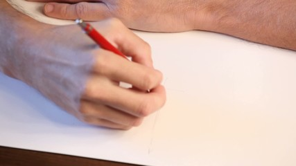 Hand drawing - making sketch