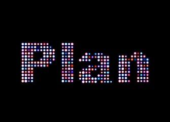 Plan led text