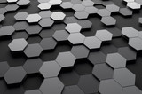 Fototapety Abstract 3d rendering of futuristic surface with hexagons.