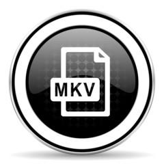 mkv file icon, black chrome button