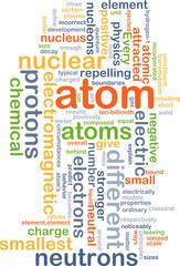 Atom background concept