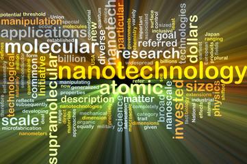Nanotechnology background concept glowing