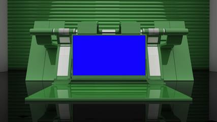 Green virtual set