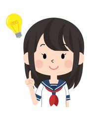 女子・学生〈セーラー服・夏〉3
