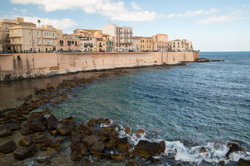 Eastern side of Ortigia' coast, Syracuse