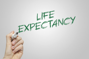 Hand writing life expectancy