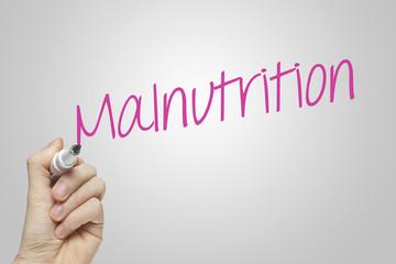 Hand writing malnutrition