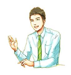 ビジネスマン01-プレゼンテーション