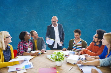 Teamwork Casual Leadership Brainstorming Learning Concept