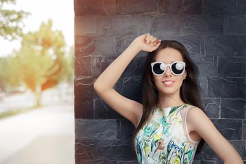 Urban Woman Wearing Sunglasses
