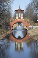 Крестовый мост солнечным апрельским днем.  Царское Село