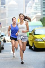 New York City NYC runners - urban people running