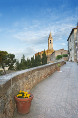 cathedral in Medieval Town Pienza, Tuscany, Italy.