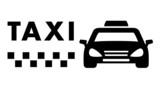 Fototapety black taxi car on white background