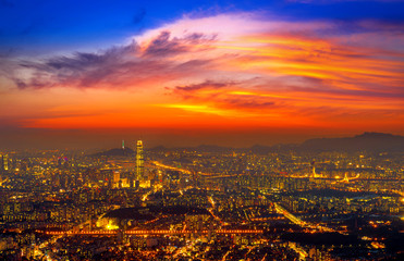 South Korea skyline of Seoul, The best view of South Korea with