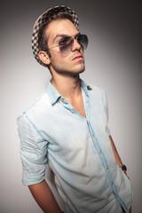 young casual fashion man wearing sunglasses